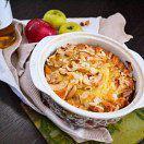 Рецепт Самый простой и вкусный яблочный пирог с орехами