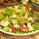 Рецепт Салат с моцареллой и кунжутом