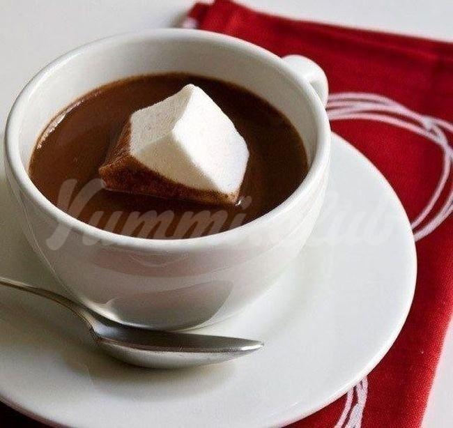 На фото Горячий шоколад