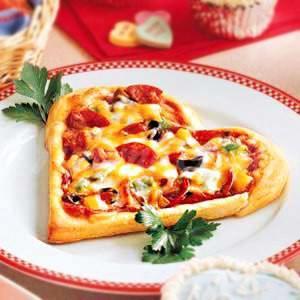 На фото Пицца ко Дню Святого Валентина