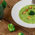 Рецепт Суп-пюре из брокколи с гренками
