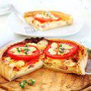 Рецепт Французский пирог с беконом, сыром и томатами