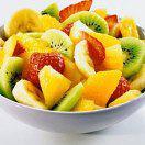 Рецепт Фруктовый салат с ананасом, киви, бананами, мандаринами и апельсинами