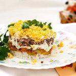 Рецепт Салат из куриной печени и риса