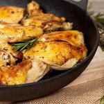 Рецепт Запеченные куриные бедрышки с лимоном и розмарином