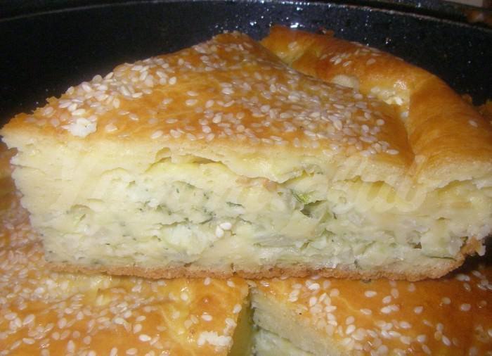 На фото Наливное тесто на кефире