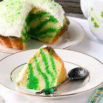 Рецепт Зеленый мраморный торт