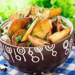 Рецепт Запеченные картофельные дольки от Джейми Оливера