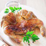 Рецепт Цыпленок табака под чесночно-молочным соусом