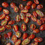 Рецепт Жареные помидоры черри с чесноком