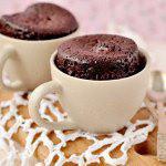 Рецепт Шоколадный кекс в кружке с ирисками