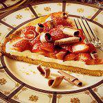 Рецепт Сладкая пицца с клубникой и сыром маскарпоне