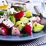 Рецепт Весенний салат из редиса с огурцами и фетой