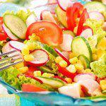 Рецепт Весенний салат из овощей