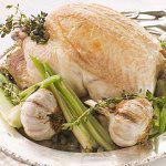 Рецепт Запеченная курица с чесноком и розмарином