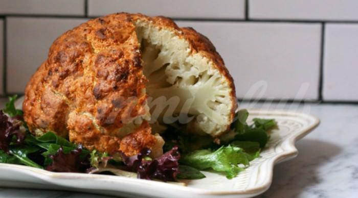 На фото Необычный рецепт приготовления цветной капусты