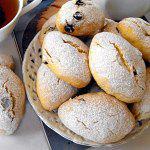 Рецепт Итальянское печенье из кукурузной муки с изюмом и орехами