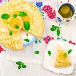 Рецепт Блинный пирог с лимонным кремом