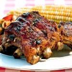 Рецепт Свиные ребрышки с соусом барбекю