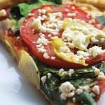 Рецепт Пицца со шпинатом и сыром Фета
