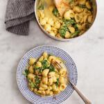 Рецепт Макароны со сливочным сыром и шпинатом