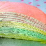 Рецепт Радужный блинный торт