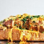 Рецепт Сырный хлеб в микроволновке