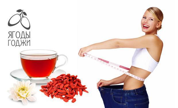 На фото Похудение на ягодах годжи