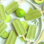 Рецепт Мороженое из кокосового молока и авокадо с лаймом