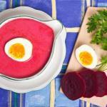 Рецепт Холодный свекольный суп-пюре