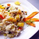 Рецепт Ризотто с овощами, сливками и сладким перцем
