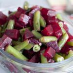 Рецепт Теплый салат из свеклы с зеленой фасолью