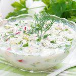 Рецепт Окрошка на кефире с адыгейским сыром