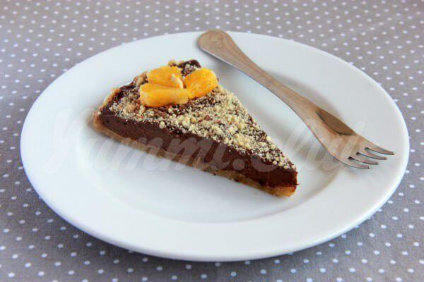 На фото Шоколадно-апельсиновый торт