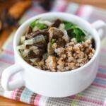 Рецепт Гречневая каша с сушеными грибами