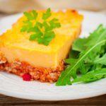 Рецепт Тыквенно-картофельная запеканка с мясным фаршем