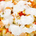 Рецепт Салат с курицей, пекинской капустой и кукурузой