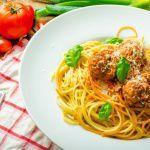 Рецепт Простой рецепт спагетти с фрикадельками