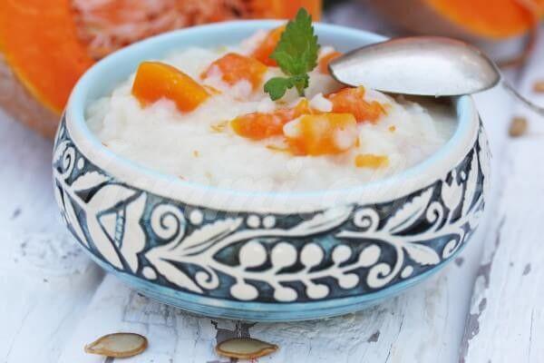 На фото Тыквенная каша с рисом