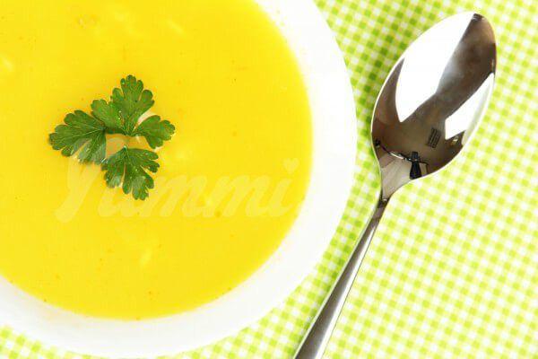 На фото Тыквенный суп-пюре