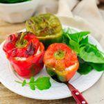 Рецепт Запеченный болгарский перец с творогом