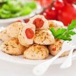 Рецепт Куриные котлеты с помидорами черри