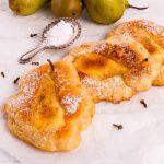 Рецепт Яблочные оладьи с грушевым припеком
