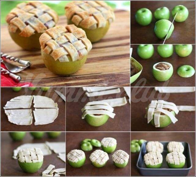 Запеченные яблоки.