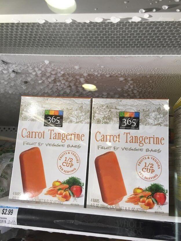 Морковно-мандариновое мороженое