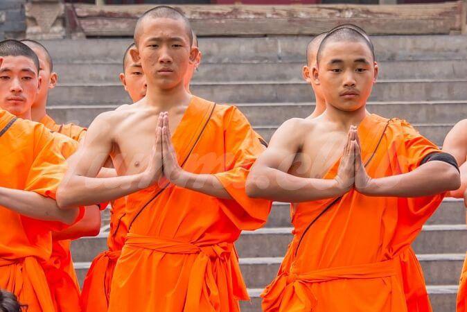 На фото Советы монаха из Шаолинь о том, как оставаться молодым