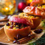 Рецепт Запеченные яблоки с кускусом и вяленой вишней