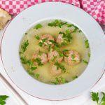 Рецепт Чешский суп с кнедликами