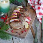 Рецепт Запеченная свинина с яблоками и клюквой