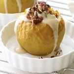 Рецепт Запеченные яблоки с творожным кремом